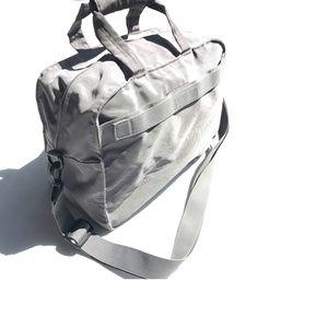 Muji Gray Water Repellent Large Shoulder Bag
